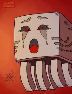 ghast face minecraft illustration - Google Search