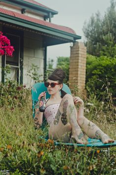 Vintage tattoo girl #tattoos #tattooed #ink #inked #tatt #tatts #bodymodification #girl #sleeve #superhot #sexy #tattooideas #legs #pinup