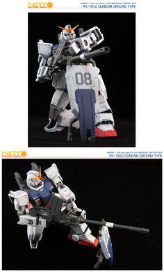 HG Gundam Ground Type - Customized Build Modeled by NGT Factory Japan Ground Type, Mecha Anime, Gundam Model, Mobile Suit, Nerdy, Darth Vader, Japan, Guys, Drawings
