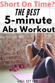 Looking for a 5 minute abs workout that you can do at home? Always find you're short on time to get the body that you want? If you want to get a six pack this is the perfect lower abs workout routine that you can do to get that flat tummy fast. 5 Minute Abs Workout, Quick Ab Workout, Ab Core Workout, Abs Workout Routines, Ab Routine, Core Workouts, Home Weight Workout, Ab Workout At Home, Abs Workout For Women