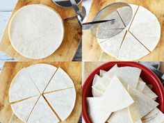 Homemade Tortilla Chips from Corn Tortillas in 5 minutes, easy homemade Mexican in minutes! Homemade Tortilla Chips, Homemade Chips, Homemade Tortillas, Corn Tortillas, Chip Alternative, Mexican Food Recipes, Side Dishes, Fries, Appetizers