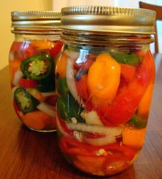 lacto fermened peppers! Can't wait to try this out. i just got a ton of peppers from my farmer. Too many to eat before they go bad.