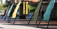 """See and try Batyline ISO """"Street Ladder Seats"""" at La Défense  Julie Brand and Francis Boissenin"""