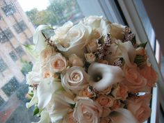 Cream and whites make this bouquet sweet as the bride! Bouquet, Bride, Cream, Future, Amazing, Sweet, How To Make, Fun, Image
