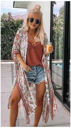 Korean Summer Outfits, Vintage Summer Outfits, Classy Summer Outfits, Summer Outfit For Teen Girls, Summer Outfits Women Over 40, Summer Dress Outfits, Fall Outfits, Bohemian Outfit Summer, Casual Dresses
