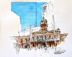 LGirish Toraskar (@girishtoraskar) в Instagram: «The Central station, Brisbane. #aquarell #art #painting #watercolor #watercolour #sketch #paint #drawing #sketching #sketchbook #travelbook #archisketcher #sketchaday #sketchwalker #sketchcollector #traveldiary #topcreator #usk #urbansketch #urbansketchers #скетчбук #скетч #скетчинг #pleinair #aquarelle #watercolorsketch #usk #architecture #painting #illustration