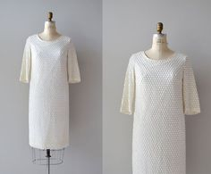 1960s dress / beaded cocktail dress / Mithril dress by DearGolden, $88.00