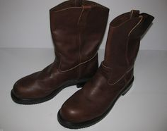 Red Wing Boots Steel Toe Size 16D Great Condition Pecos Slip On Work Boots #RedWing #WorkSafety
