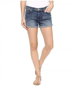 Hudson - Asha Mid-Rise Cuffed Shorts in Coalition (Coalition) Women's Shorts