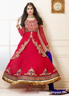 she9 kids: Indian Anarkali Umbrella Wedding-Brides-Bridal Party Wear Fancy Frocks 2014 New Fashion Suits VOL 2
