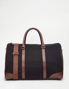ASOS+Holdall+In+Navy+Canvas