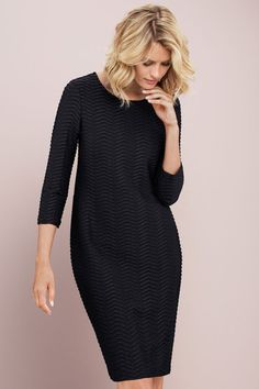 Capture Textured Dress Online | Shop EziBuy