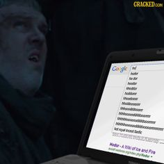 The 18 Most Incriminating Google Search Histories Possible #GameOfThrones #Hodor