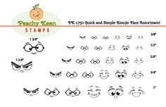 PK-1750 Quick and Simple Emojis Face Assortment