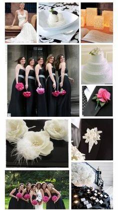 Inspiration 49:  Elegant Summer Wedding | black and hot pink wedding
