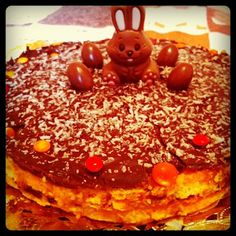 Tarta de chocolate, coco y zanahorias