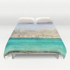 Art Duvet Cover At Sea 2 photography home decor photograph photo bedding full queen king bedroom texture ocean aqua sky blue nautical brown