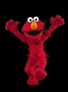 Elmo will be protected from any and all tickling. (Courtesy of the National Museum of American History. Sesame Street characters are copyright Sesame Workshop. Sesame Street Muppets, Sesame Street Characters, Elmos Potty Time, Jim Henson Puppets, Custom Puppets, Elmo World, Puppet Making, Big Bird, Funny Cartoons