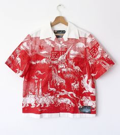 dd524f27a6e Prada BNWT AW 16-17 Christophe Chemin Print Shirt Size US M   EU