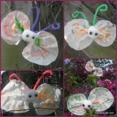 Coffee Filter Butterflies Are An Easy Spring Craft For Toddlers | Makobi Scribe