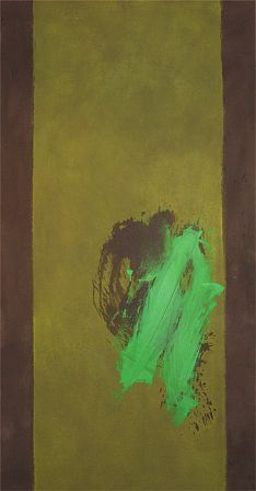 Cleve Gray, Frond, 1977, acrylic on canvas, 82 X 44 inches