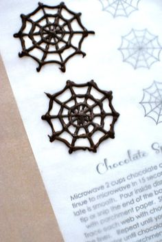 How to Chocolate Spider Webs anna and blue paperie