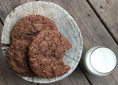 Chewy Chocolate Hazelnut Cookies ~ Enjoy sharing delicious chewy cookies studded with chocolate chips with a tall glass of milk or warm mug of tea! Recipes Using Flour, Coconut Flour Recipes, Baking Recipes, Coconut Oil, Paleo Recipes, Free Recipes, Chocolate Hazelnut Cookies, Chocolate Chips, Vegan Wedding Cake