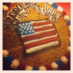 Great American Cookies' Fourth of July Cookie Cake! Fireworks For Kids, 4th Of July Fireworks, Cookie Cakes, Cookie Frosting, Big Cookie, Cookie Pie, 4th Of July Party, Fourth Of July, Cookie Recipes