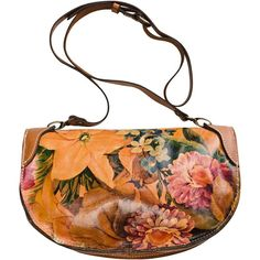 Patricia Nash Palma Half Moon Clutch Bag ($80) ❤ liked on Polyvore featuring bags, handbags, purses, accessories, сумки, patricia nash purses, genuine leather handbags, man bag, genuine leather purse and leather cross body purse