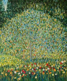 Apple Tree I Oil Painting by Gustav Klimt