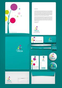 Bloom Corporate Identity by Ragheb Abuhamdan, via Behance