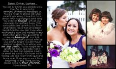 Give your sister/maid of honor something special to remember the wedding day!! http://geezees.com/