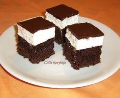 Néger kocka Hungarian Desserts, Hungarian Cake, No Bake Cake, Tiramisu, Food And Drink, Sweets, Cookies, Baking, Ethnic Recipes