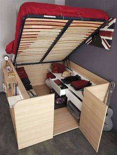 awesome storage bed idea