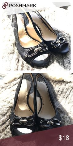Coach sling backs Never worn - amazing comfortable Coach Shoes Wedges