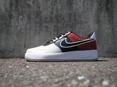 30fcabb7e79 Buy Nike Air Force Air Force 1 Low Black Total Crimson Elephant 488298 031  For Sale