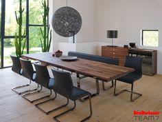 Team 7 bei Breitwieser   Eszimmer in Kombination Holz und Leder
