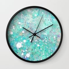 Marble Art V 17 #society6 #decor #buyart #lifestyle Wall Clock ($30) ❤ liked on Polyvore featuring home, home decor, clocks and marble home decor