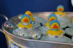 Rubber Duckies and Blue Camo Baby Shower Party Ideas | Photo 10 of 36 | Catch My Party Shower Party, Baby Shower Parties, Rubber Ducky Birthday, Baby Shower Camo, Camo Baby Stuff, Blue Camo, Babyshower, Party Ideas, Diaper Parties