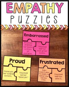 24 empathy puzzles to help students understand what causes others to experience certain feelings and how they can respond to those situations. A great addition to empathy or friendship units. Also includes 2 follow up worksheets.