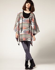 Faded Navajo Poncho