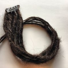 Dark brown clip in human hair extensions synthetic dreads
