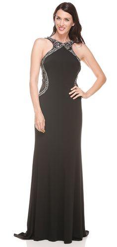 Terani E3757 Shimmering Trim Gown