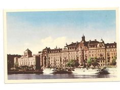 Vykort stockholm nybroviken gamla båtar