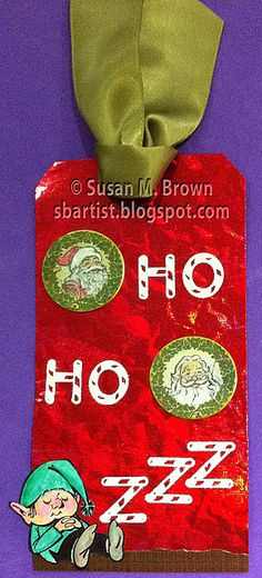 """12 tags of Christmas Bloghop - day #9 tag: """"Ho...Ho...Zzzzzz"""""""