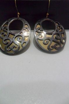 elegant double drop earringsfiligree earrings by aydam on Etsy, $5.00
