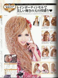 gyaru long hairstyle tutorial