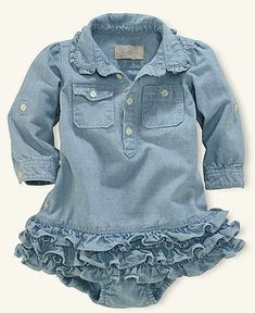 Ralph Lauren Baby Dress, Baby Girls Chambray Dress - Kids Baby Girl (0-24 months) - Macy's