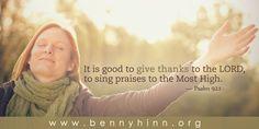 www.bennyhinn.org www.facebook.com/BennyHinnMinistries