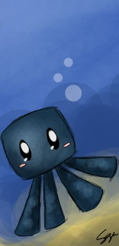 Minecraft: babby Squid :3 by Sayuri-Amaya.deviantart.com on @deviantART